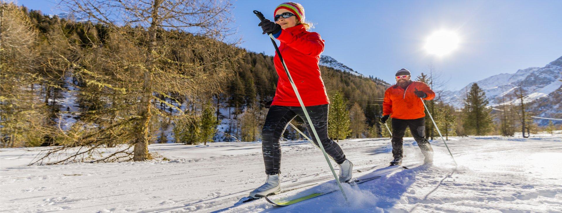Adultes ski de fond parc soleil